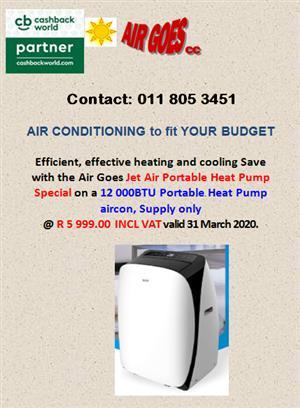 Jet Air Portable Heat Pump Aircon