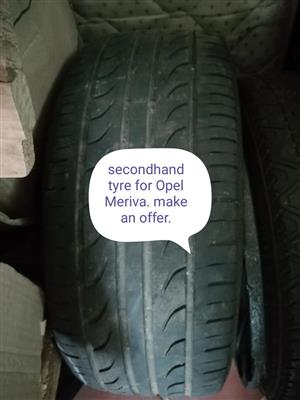 Second hand tyre for Opel Meriva
