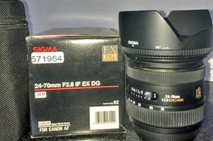 Sigma 24-70 mm F2.8 Lens for Canon Fit
