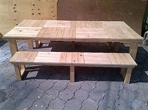 Patio table Cottage series 2400 Combo 1 Varnished