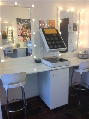 Shop fittings and mirrors for beauty salon