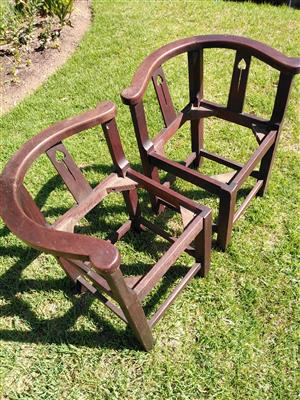 antique post office corner chairs (2)