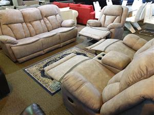 Grafton Everest 100% Suede Fabric lounge suite for sale R 24995