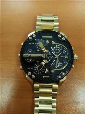 Diesel 3 Bar Gold Watch for sale