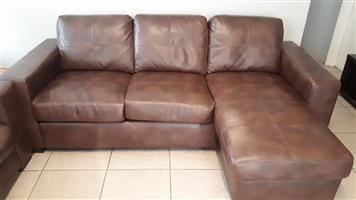 L shape couch plus single couch for sale