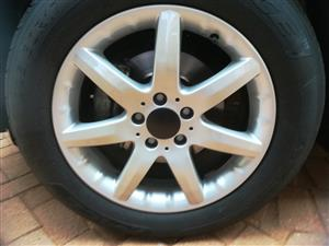 """Very scarce Mercedes 17"""" rims x 4. Just been refurbished"""