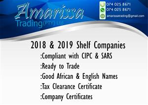 SHELF COMPANIES FOR SALE-READY TO TRADE AND COMPLIANT. SEE THE LIST BELOW AND CHOOSE THE ONE YOU LIKE