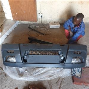 Mahindra Scorpio front bumper with spot lights