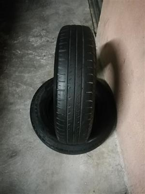 Two 165 80r14 tyres for sale