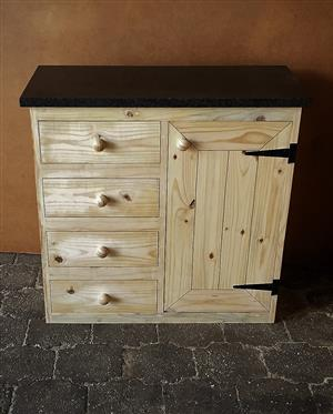 Kitchen Cupboard Base unit Cottage series 950 - Raw