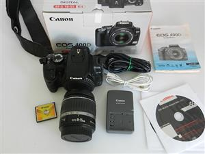 Canon EOS 400D SLR with 18-55mm Lens