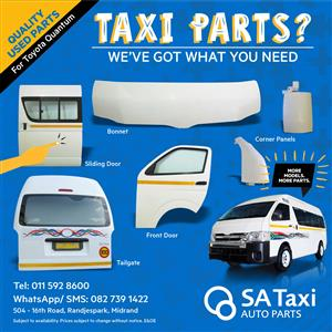 Used Taxi Body Panels suitable for Toyota Quantum - SA Taxi Auto Parts quality spares