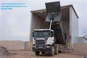 tippers hydraulic installation