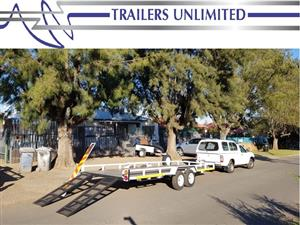 TRAILES UNLIMITED DOUBLE AXLE CAR TRAILERS.