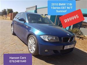 2010 BMW 1 Series 118i 5 door M Sport