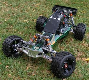 Custom HPI 1/5 Baja 5B RC-carbon/aluminium parts-scratch build - never started