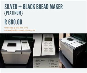 SILVER AND BLACK BREAD MAKER