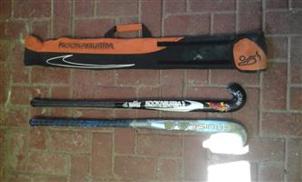 Hockey sticks. Kookaburra wild beast & c50 cruise. Good condition.