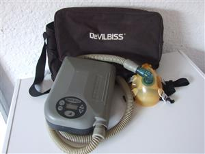 """CPAP Nasal Machine. """"DeVILBISS"""" - with carry case and manual. Contact Chuck 072 348 0572"""