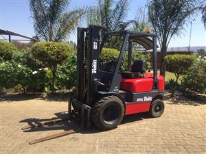Tailift 2.5 ton Semi rough Forklift for sale Job-167