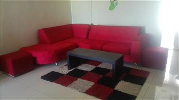 Top quality Red L- shaped couches for sale