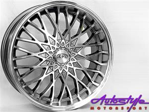 17 inch Evo Falcon eagle style Gunmetal Alloy Wheels