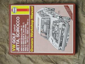 Comprehensive service manual for Golf and other VW associated models - 1975 to 1985