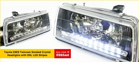 Toyota Twincam DRL Smoke Headlights pair E8 E9