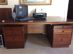 Wooden desk with Mahogany finish