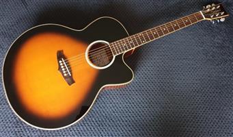 Tanglewood TSJ CE VS Acoustic Guitar - Vintage Sunburst