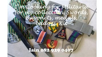 Militaria wanted