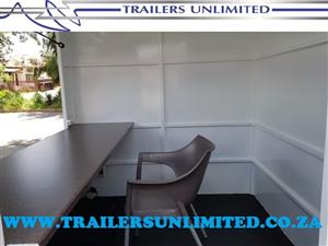 TRAILERS UNLIMITED.MOBILE OFFICE.1800 X 1800 X 2000MM UNIT.