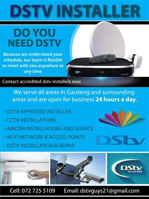 DSTV AUTHORISED EXPERTS IN VAAL PARK CALL 0727255109