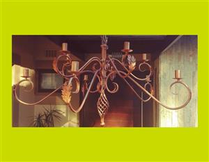 Large Wrought Iron Chandeliers - Priced Individually  - SKU 28