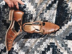 Foschini brown leather shoes for sale