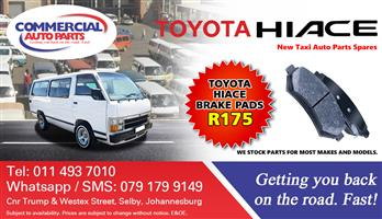 Brake Pads For Toyota Hiace For Sale.
