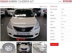 2013 Nissan Almera 1.5 Acenta auto