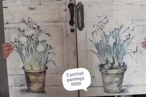 2 Portrait paintings for sale