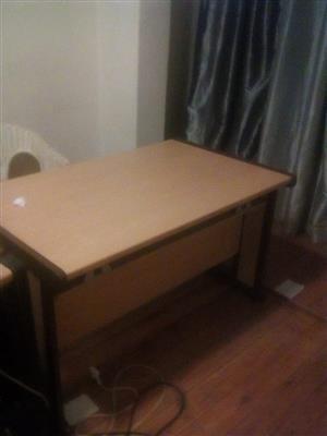 Light wooden computer desk for sale