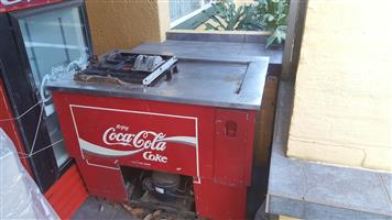 Antique coke fridge