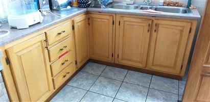 Kitchen cupboards , oven,extractor fan & hob