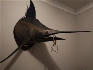Sword fish wall mounted ornament