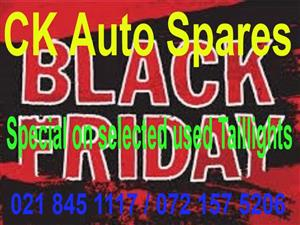 Black Friday  Special on selected used Taillights for most vehicle makes and models.
