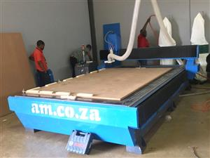 R-2040LK/40 EasyRoute 380V Lite 2050x4000mm PVC Clampable Vacuum CNC Router, 4kW Water
