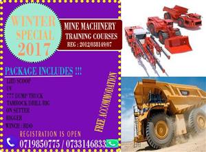 2019 Workshop courses Trade test Mining short courses 777 dump truck drill rig LHD welding Northwest