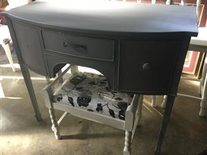 Antique dresser or ideal bathroom vanity, special shabby chic grey!