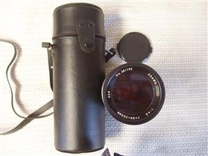 Osawa 80-205mm f/4.5 Camera Lens - in original carry Case