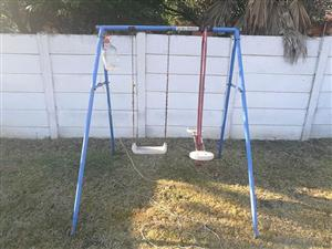 Blue swing set for sale