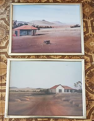 Framed printed picures