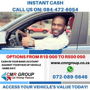 Cash against your paid up vehicle and STILL DRIVE IT! Rated #1
